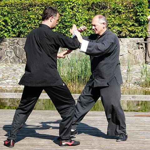 Richard Sämmer und Markus Haunschild bei Push Hands
