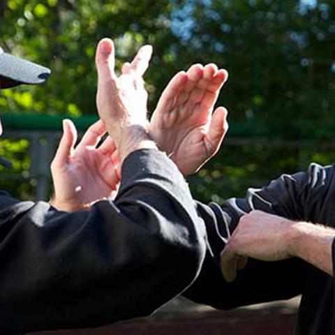 Tai Chi Schüler bei Push Hands - Foto: Ralf Eiser